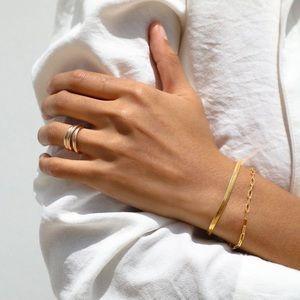 Snake Chain Golden Bracelet